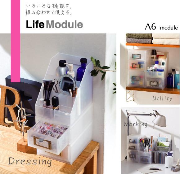 いろいろな機能を、組み合わせて使える。 Life Module A6 Module